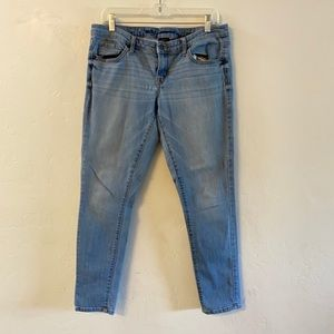 Mossimo Supply Co Light Wash Low Rise Skinny Jeans